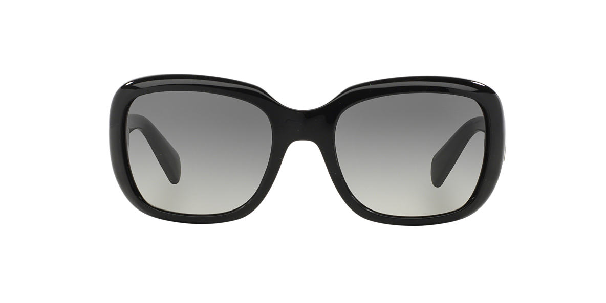 PRADA Black PR 17PS Grey lenses 57mm