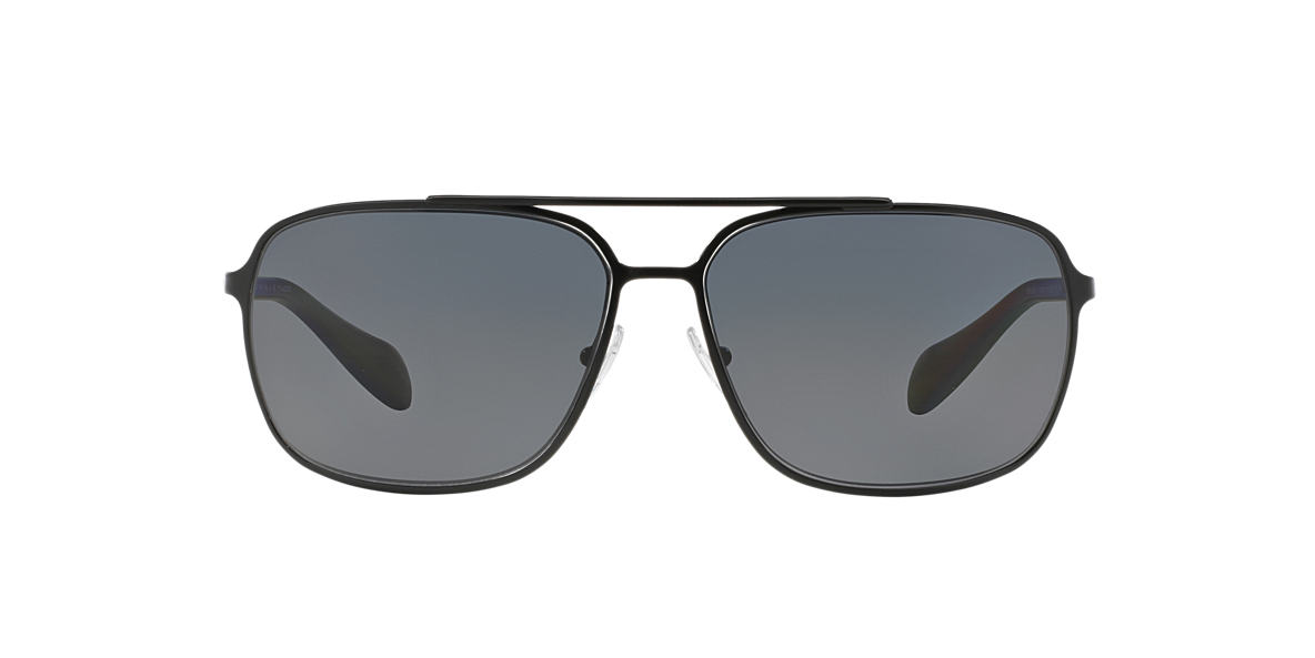 PRADA LINEA ROSSA Black PS 54OS Grey polarised lenses 64mm