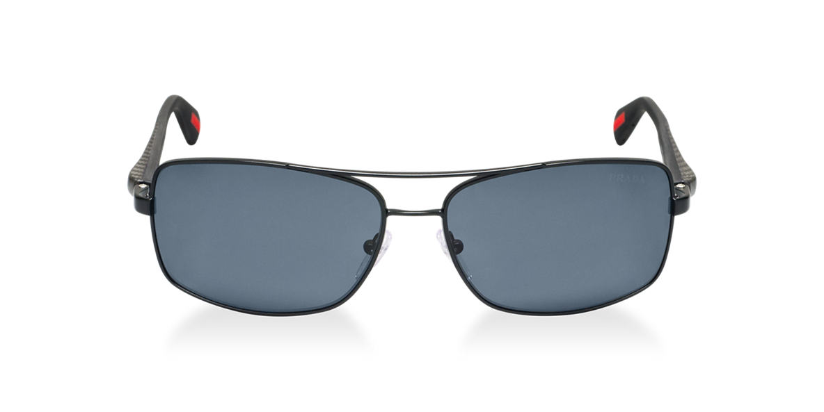 PRADA LINEA ROSSA Black PS 50OS Grey polarized lenses 62mm