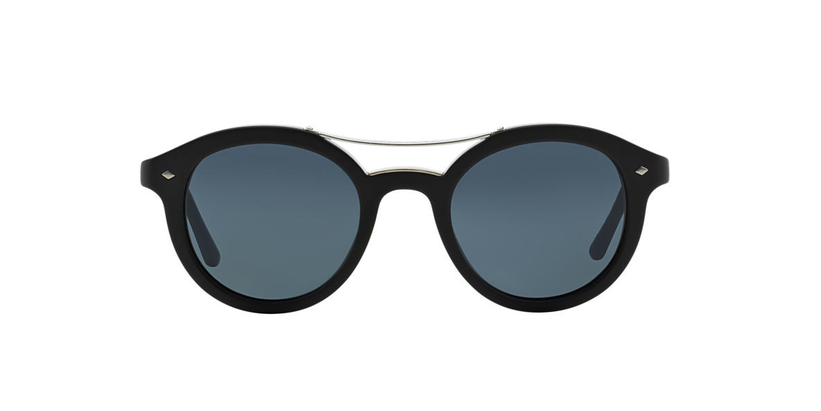 GIORGIO ARMANI Black AR8007 Blue lenses 46mm
