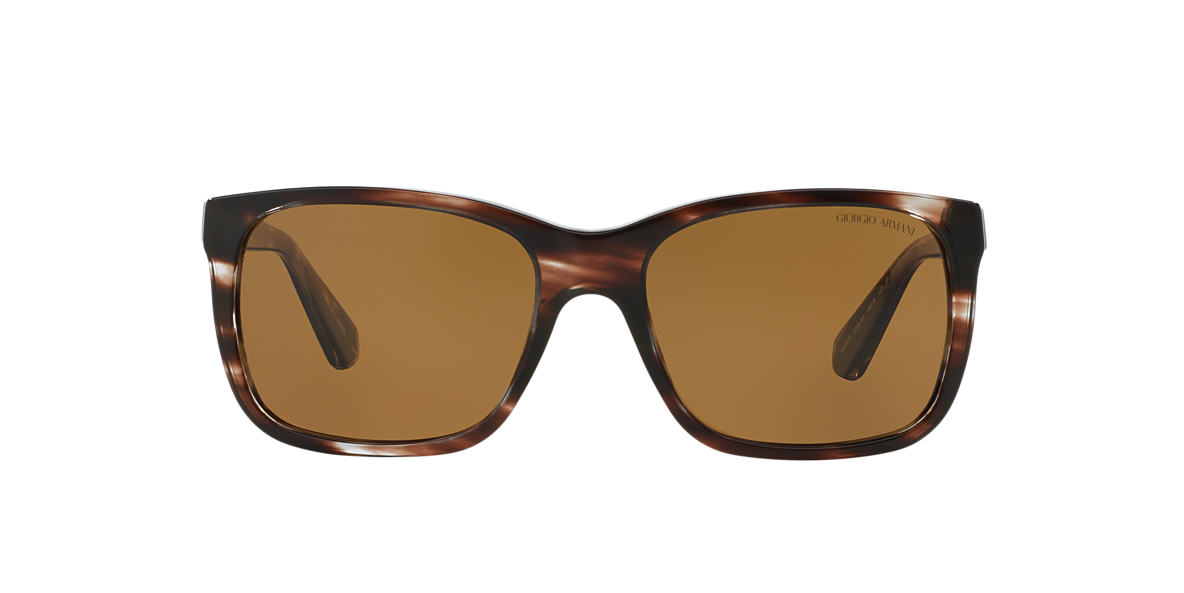 GIORGIO ARMANI Brown AR8016 Brown polarized lenses 58mm