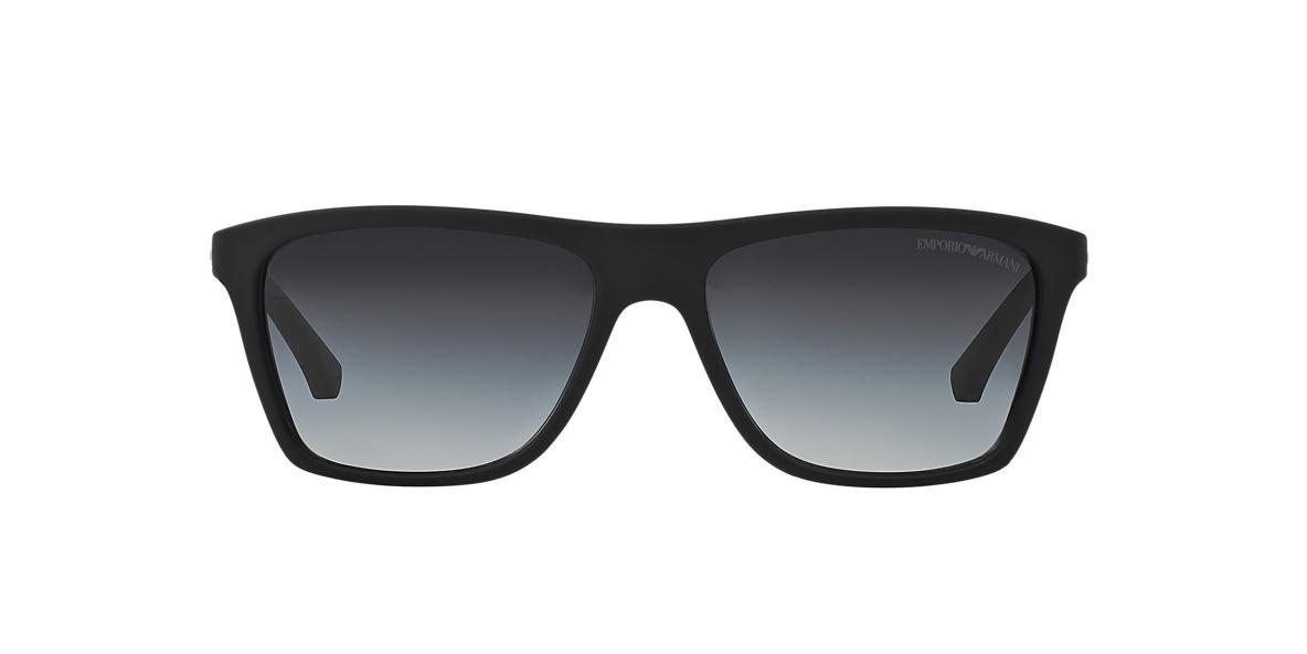 EMPORIO ARMANI Black EA4001 Grey lenses 56mm