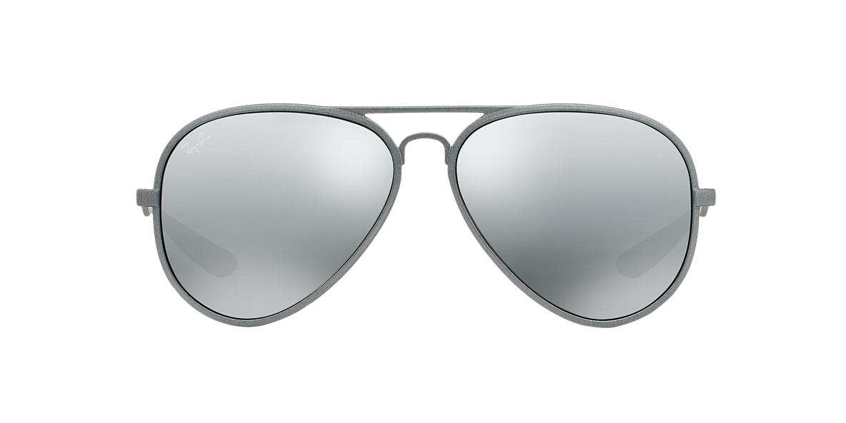 RAY-BAN Silver RB4180 Grey lenses 58mm