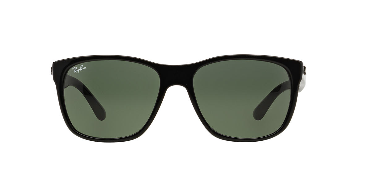 RAY-BAN Black RB4181F Green lenses 57mm