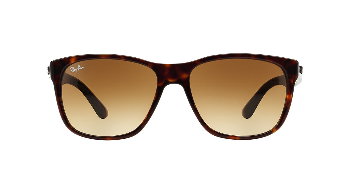 RAY-BAN Tortoise RB4181F Brown lenses 57mm