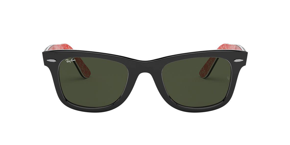 RAY-BAN Black RB2140F Green lenses 52mm
