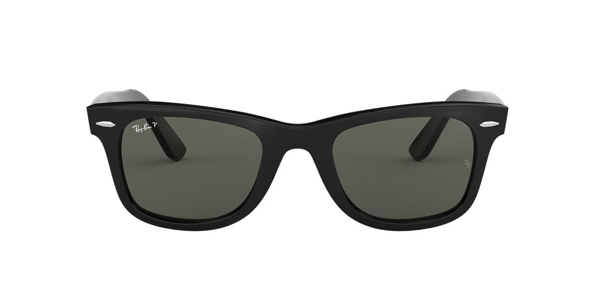 RAY-BAN Black RB2140F Green polarised lenses 54mm