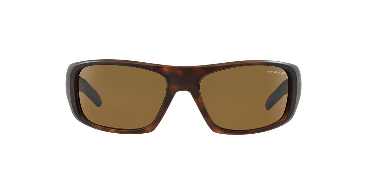 ARNETTE Tortoise Matte AN4182 HOT SHOT Brown polarized lenses 62mm