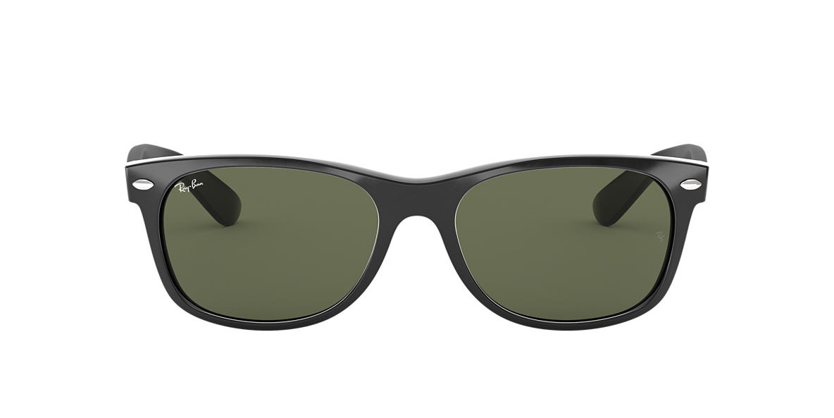 RAY-BAN Black RB2132F Green lenses 52mm