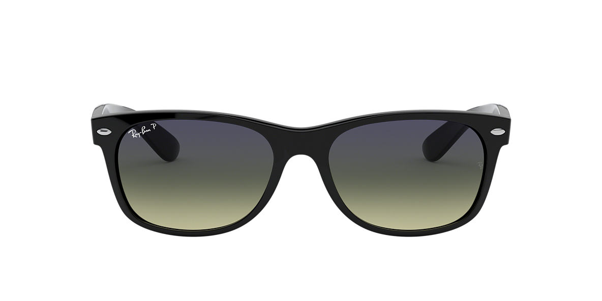 RAY-BAN Black RB2132F Green polarised lenses 55mm