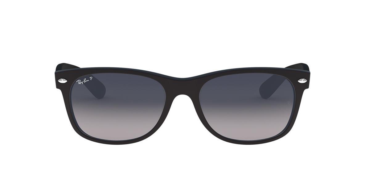 cd1e97f231 Ray-Ban RB2132F 55 NEW WAYFARER 55 Blue   Black Matte Polarized Sunglasses