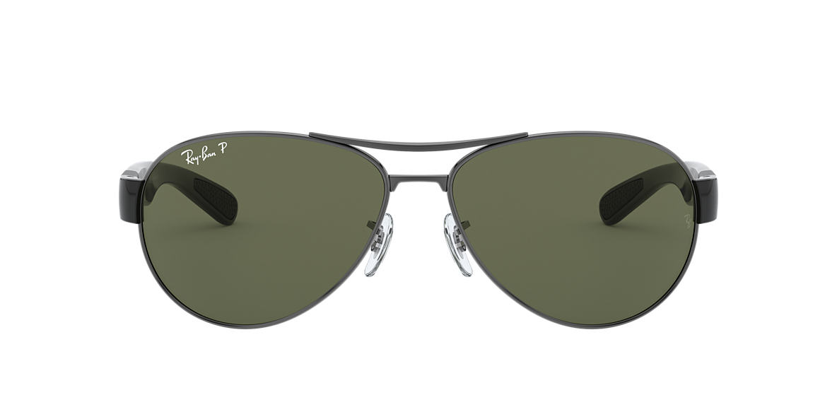 RAY-BAN Silver RB3509 Green polarised lenses 63mm