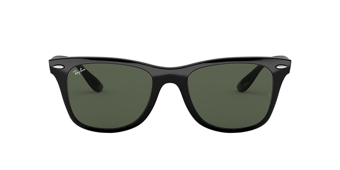 RAY-BAN Black RB4195 52 WAYFARER LITEFORCE Green lenses 52mm