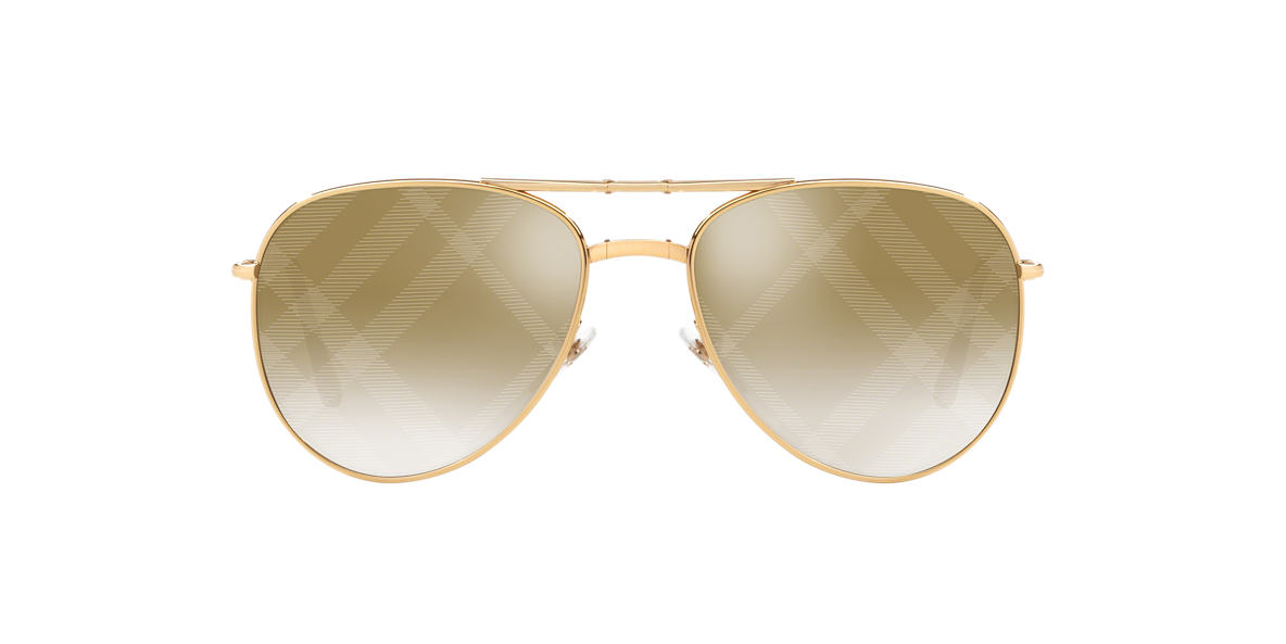 BURBERRY Gold BE3071 Brown lenses 57mm
