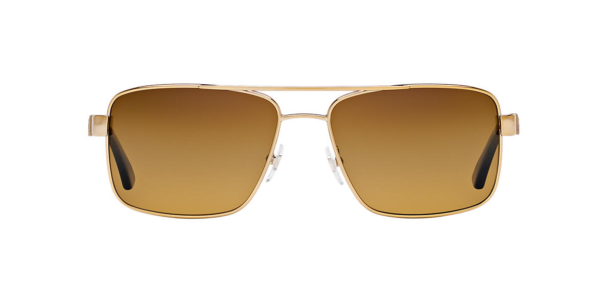 VERSACE Gold VE2141 Brown polarized lenses 58mm