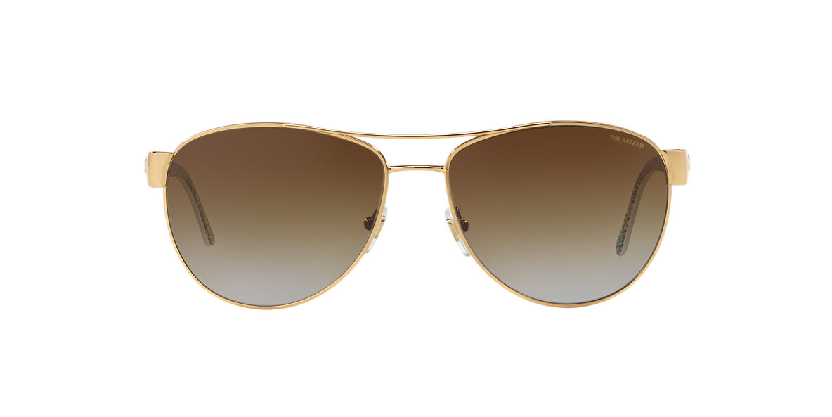 VERSACE White VE2145 Brown polarized lenses 58mm
