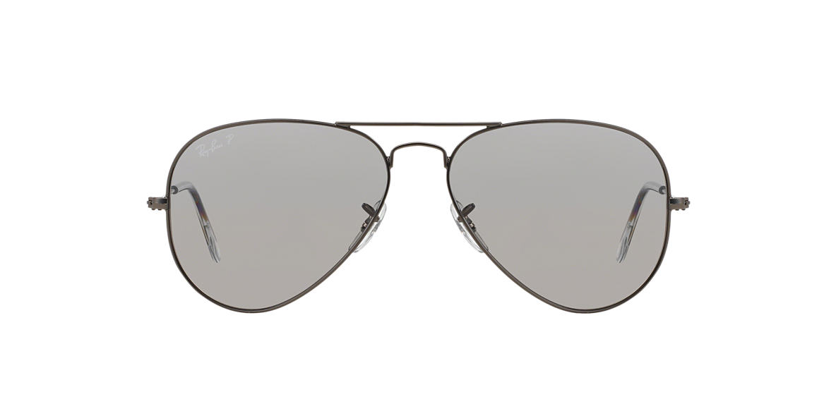 RAY-BAN Gunmetal RB3025 58 ORIGINAL AVIATOR Grey polarised lenses 58mm