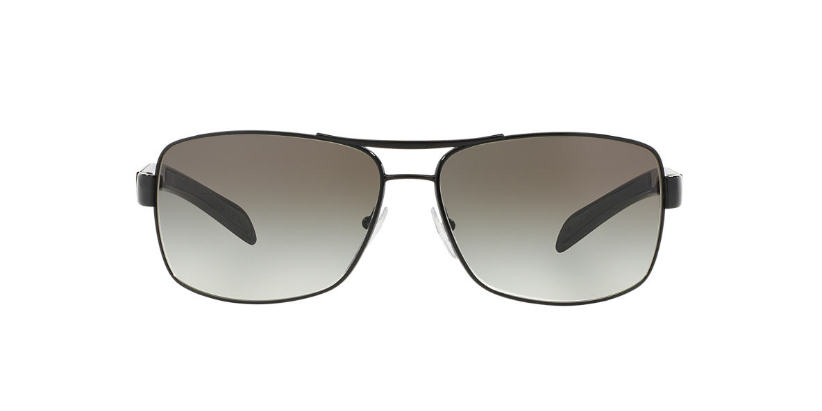 PRADA LINEA ROSSA Black PS 54IS Grey lenses 65mm