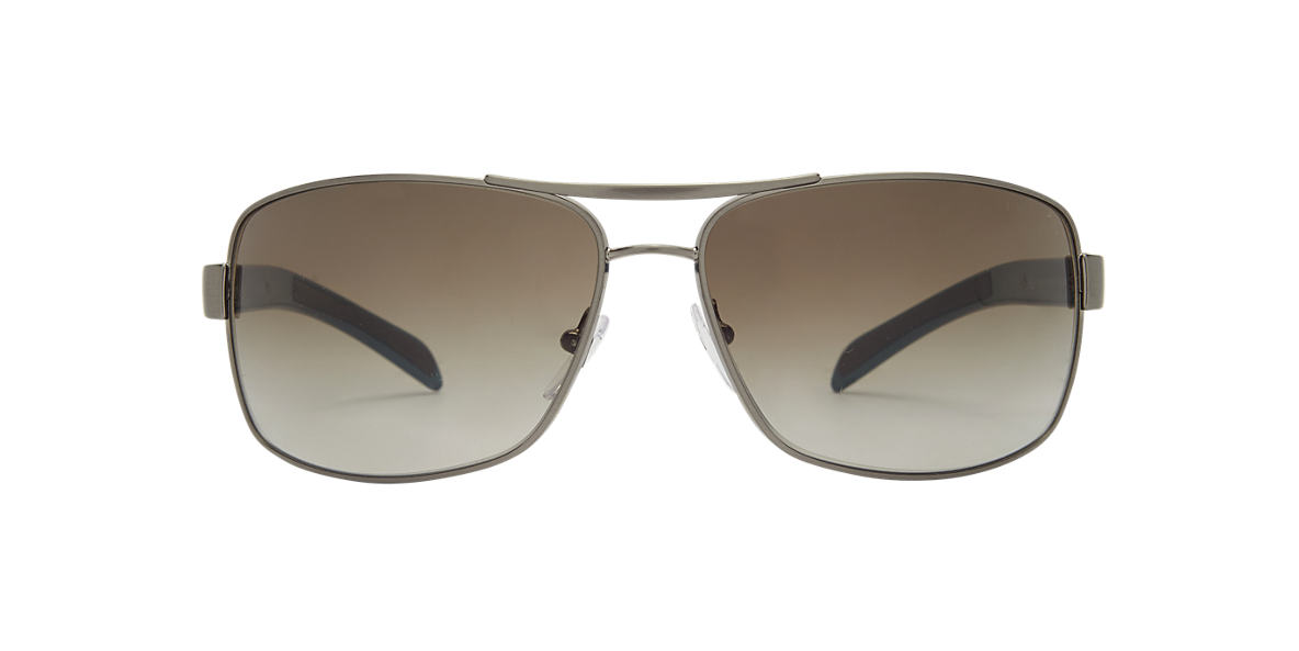 PRADA LINEA ROSSA Silver PS 54IS Green lenses 65mm