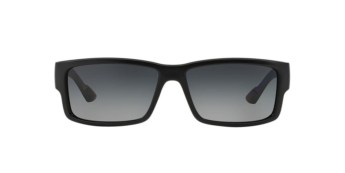 PRADA LINEA ROSSA Black PS 05OS Grey polarised lenses 59mm