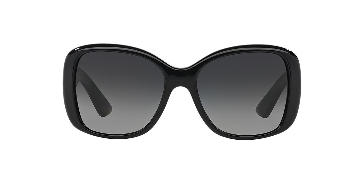 PRADA Black PR 32PS Grey polarised lenses 57mm