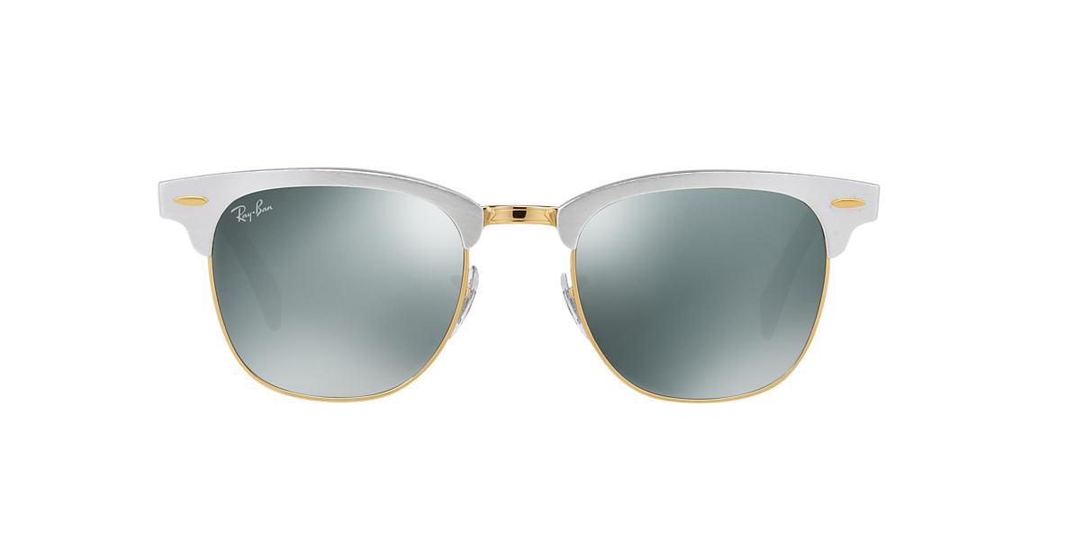 ray ban clubmaster sunglasses aluminum  ray ban rb3507 51 clubmaster aluminum 51 grey & silver sunglasses