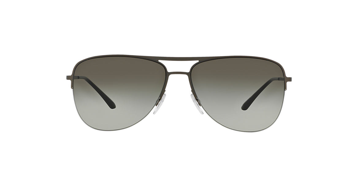 GIORGIO ARMANI Gunmetal AR6007 Green lenses 59mm