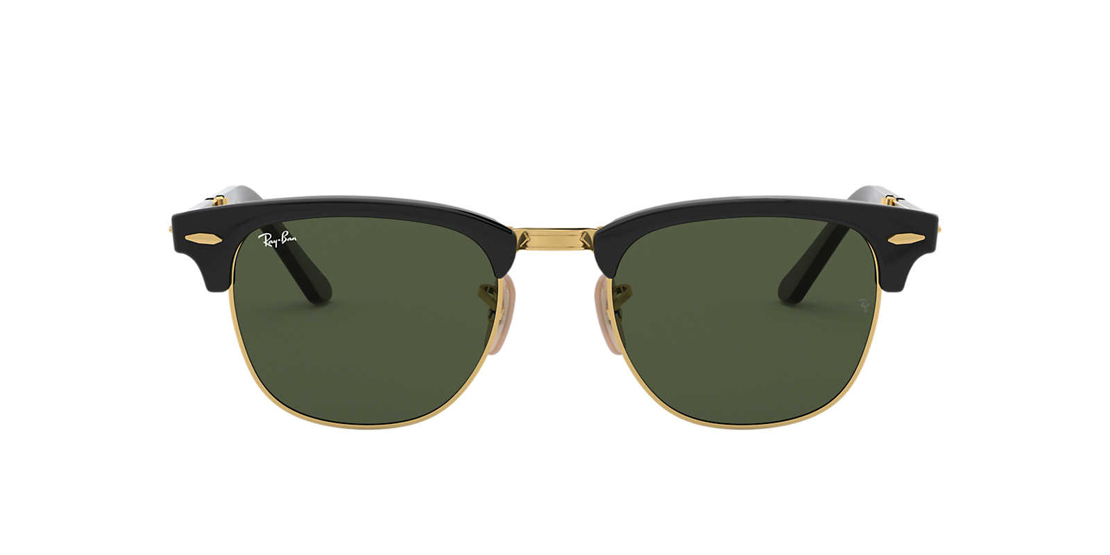 ray ban foldable clubmaster sunglasses  ray ban black rb2176 51 clubmaster folding green lenses 51mm