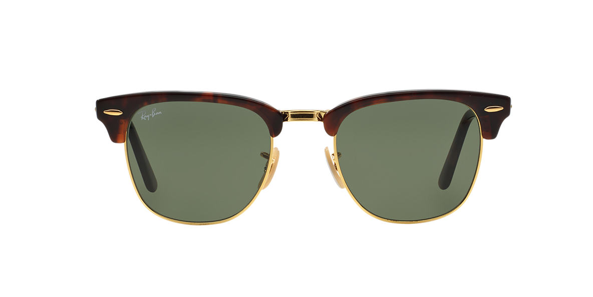 RAY-BAN Red RB2176 51 CLUBMASTER FOLDING Green lenses 51mm