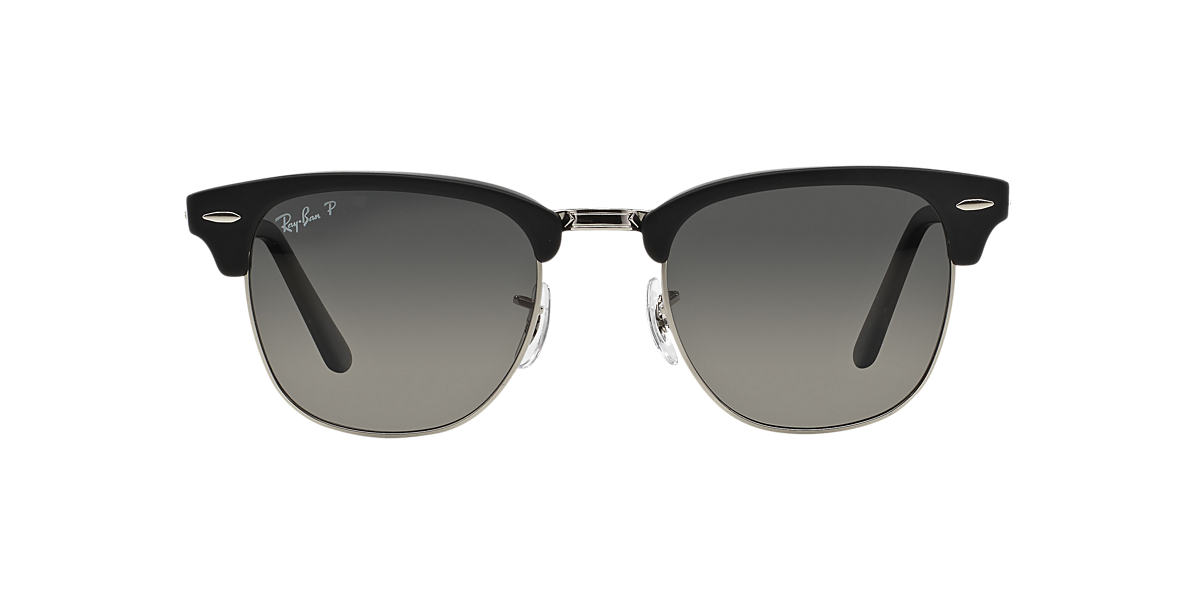 RAY-BAN Black RB2176 51 CLUBMASTER FOLDING Grey polarized lenses 51mm