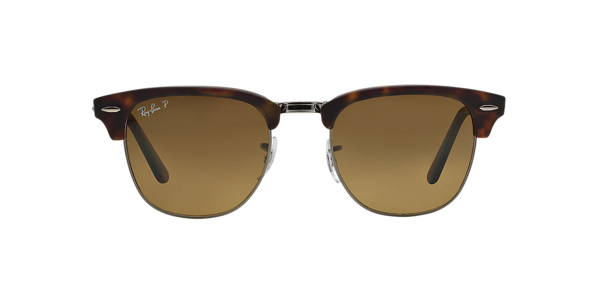 RAY-BAN  RB2176 51 CLUBMASTER FOLDING Brown polarised lenses 51mm