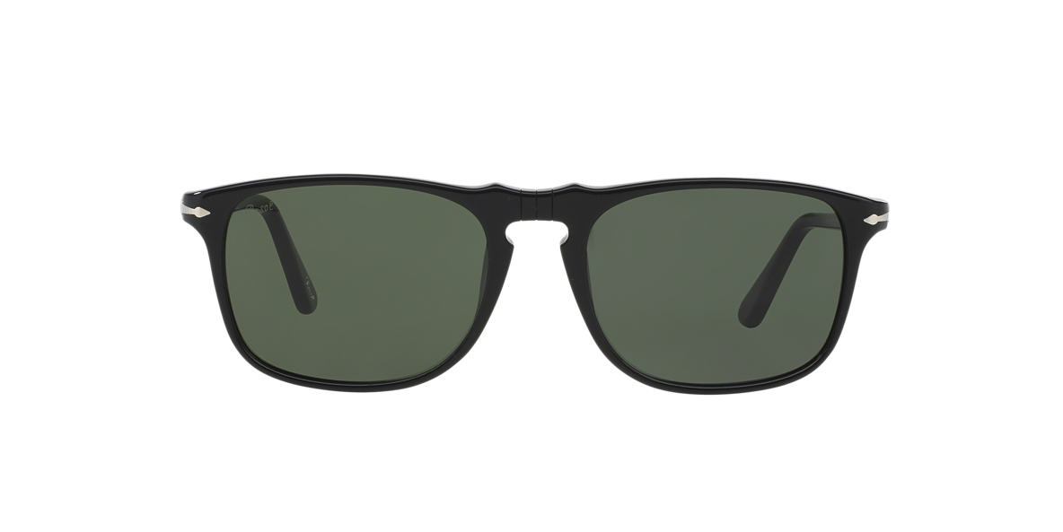 PERSOL Black PO3059S Green lenses 54mm