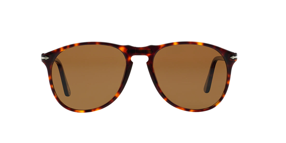 PERSOL Tortoise PO9649S Brown polarised lenses 52mm