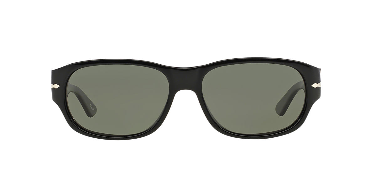 PERSOL Black PO3068S (57) Green polarized lenses 57mm