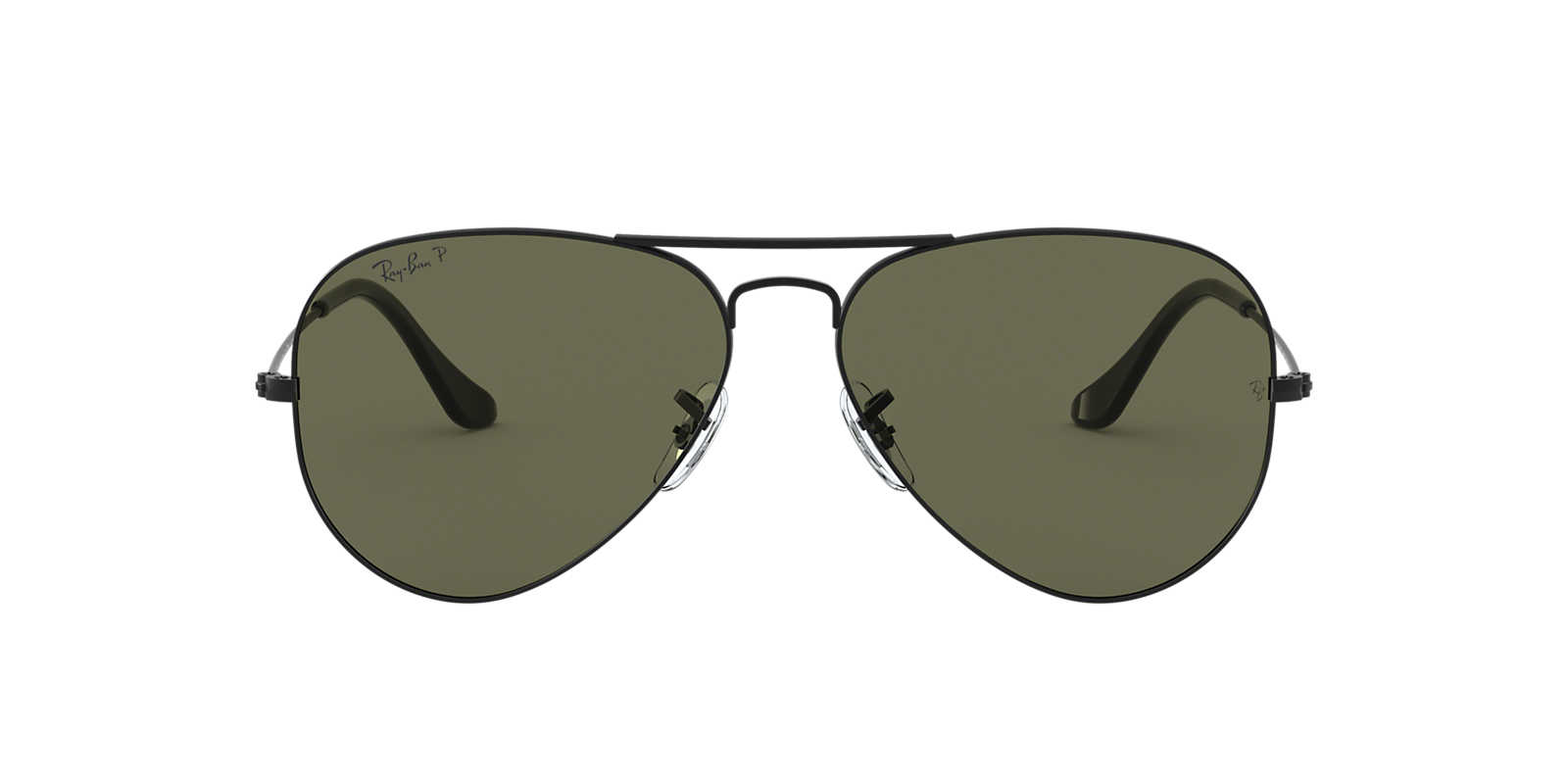 ray ban aviator matte black  Ray-Ban RB3025 58 ORIGINAL AVIATOR 58 Green \u0026 Black Matte ...