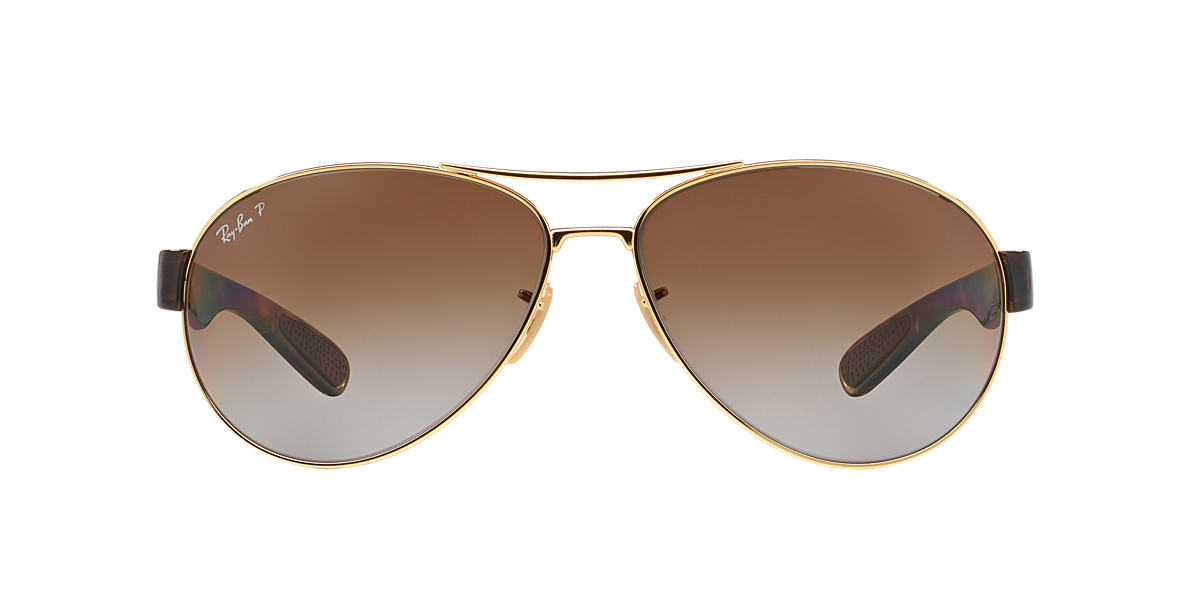 RAY-BAN Gold RB3509 63 Brown polarized lenses 63mm