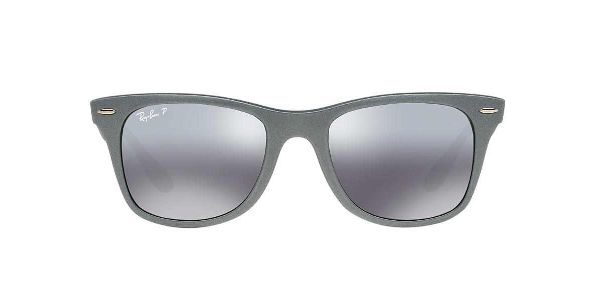 RAY-BAN Silver RB4195 52 WAYFARER LITEFORCE Grey polarised lenses 52mm