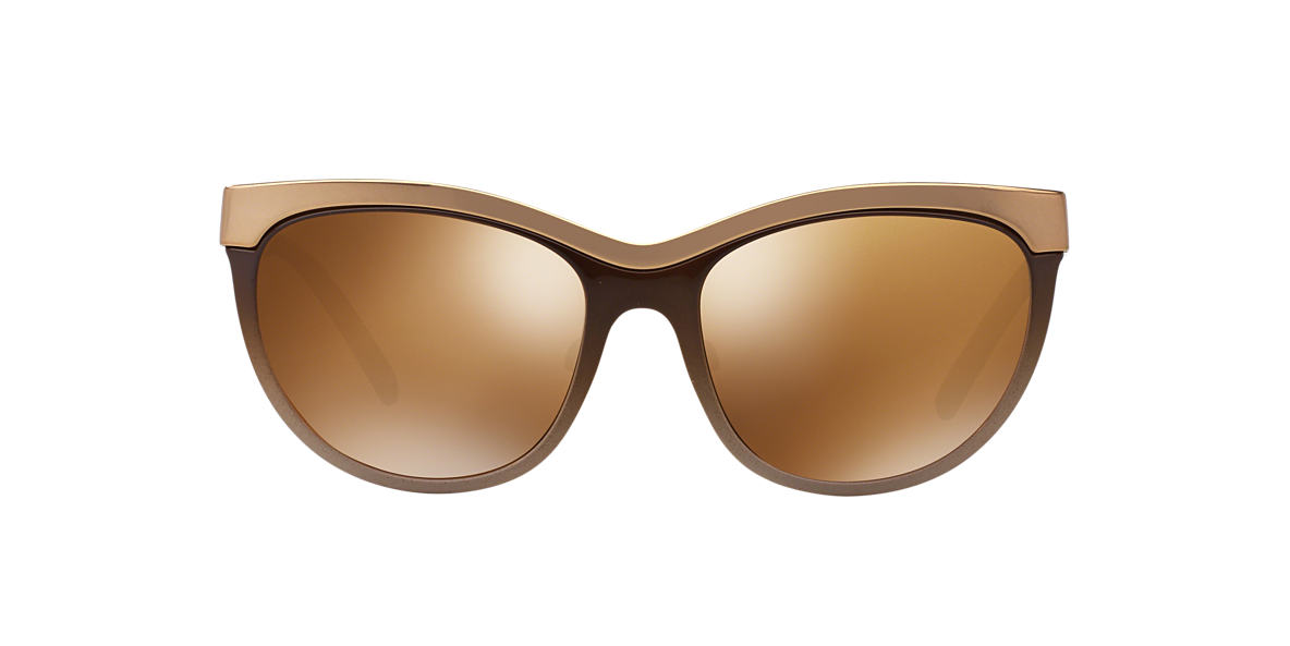 BURBERRY Brown BE3076Q Gold lenses 57mm