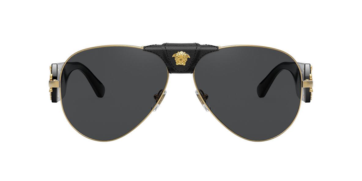 5c90069181ca Versace Ve2120 Gold Sunglasses - Bitterroot Public Library