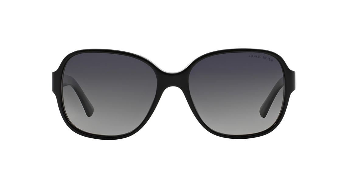 GIORGIO ARMANI Black AR8020 Grey polarised lenses 58mm