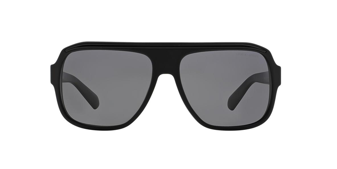 GIORGIO ARMANI Black Matte AR8023 Grey polarized lenses 60mm