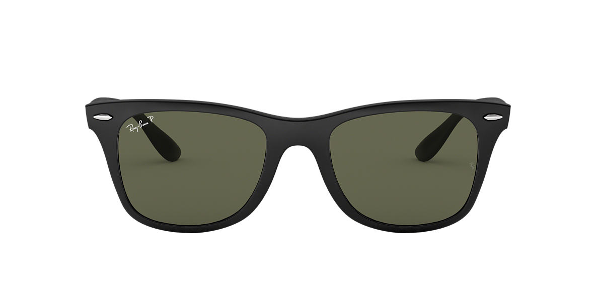RAY-BAN Black RB4195F Green polarised lenses 52mm