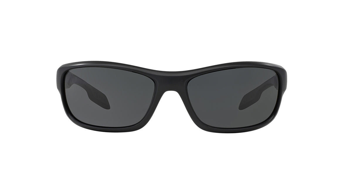 PRADA LINEA ROSSA Black Matte PS 04NS Grey lenses 65mm