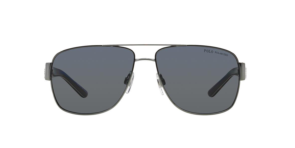 POLO RALPH LAUREN Gunmetal Shiny PH3085 Grey polarized lenses 59mm