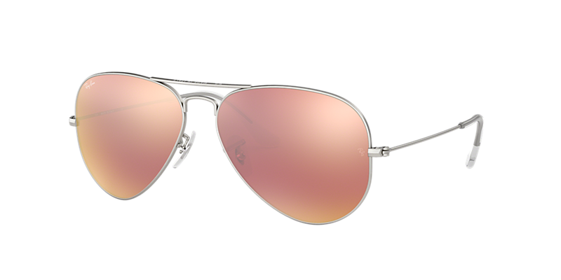 Ray-Ban Rb3025 58 Original Aviator Silver Matte Sunglasses