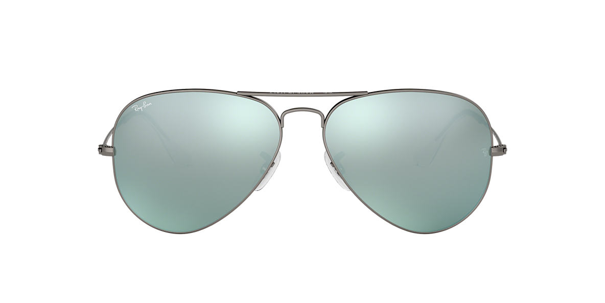 RAY-BAN Gunmetal Matte RB3025 58 ORIGINAL AVIATOR Silver lenses 58mm