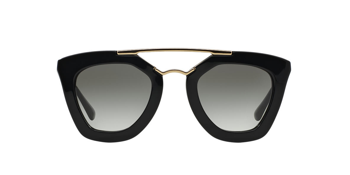 PRADA Black PR 09QS Grey lenses 49mm