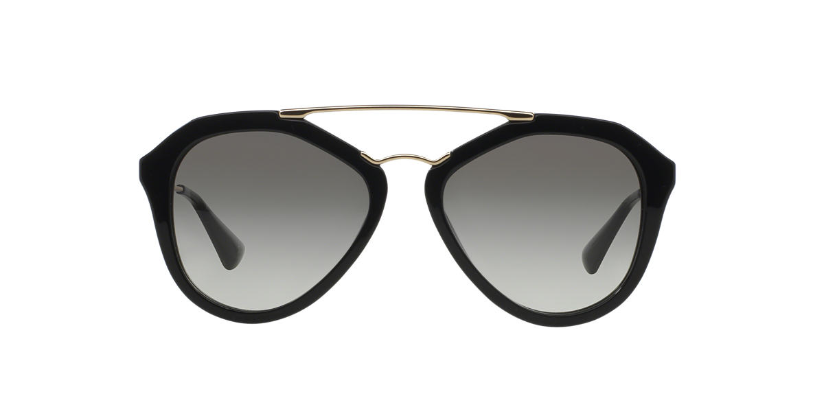 PRADA Black PR 12QS Grey lenses 54mm