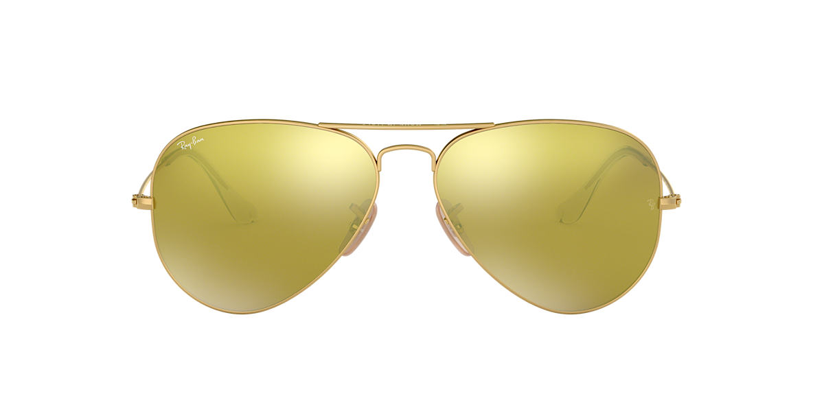 RAY-BAN Gold RB3025 Yellow lenses 58mm
