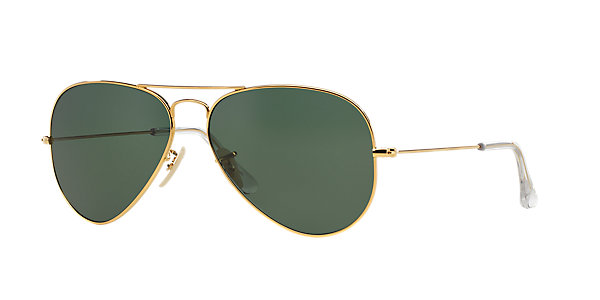 Image for RB3025K 58 AVIATOR SOLID GOLD from Sunglass Hut Online Store | Sunglasses for Men, Women & Kids